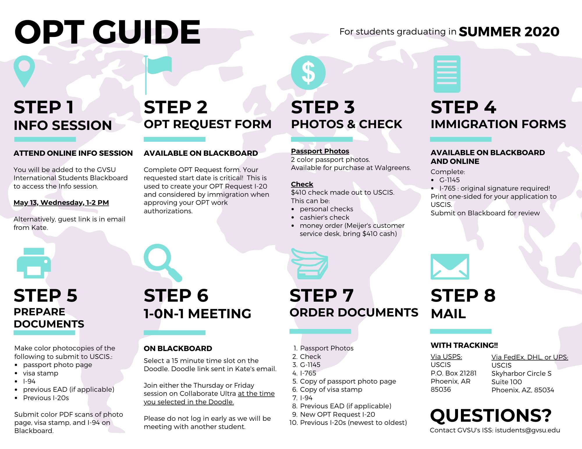 OPT Application Guide Summer 2020